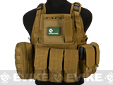 Matrix Medium Assault Plate Carrier Vest w/ Cummerbund & Pouches (Color: Tan)