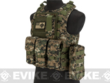 Avengers Military Style MOD-II Quick Release Body Armor Vest (Color: Digital Woodland)