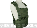 Weekend Warriors Airsoft MOLLE Tactical Chest Rig / Vest - OD Green