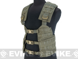 Made in USA US Military-Spec Issued RLCS Ranger Load Carriage System H-Harness Platform Rig Vest - Ranger Green
