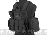 USMC Style C.I.R.A.S. Type Force Recon Tactical Vest (Color: Black)