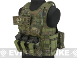 Matrix MEA Tactical Vest with M4 Magazine Pouches and Hydration Bladder (Color: Digital Woodland)