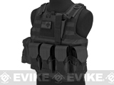 Matrix CIRAS Style Assault Plate Carrier Vest with Pouches - Black