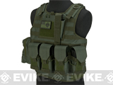 Matrix CIRAS Style Assault Plate Carrier Vest with Pouches - OD Green