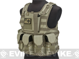 Matrix CIRAS Style Assault Vest with Pouches (Color: Tan)