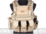 Matrix Variable Front Plate Vest w/ Integrated Pistol Holster (Color: Tan)