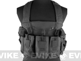 NcStar Tactical 6 Pouch AK Chest Rig (Color: Black)