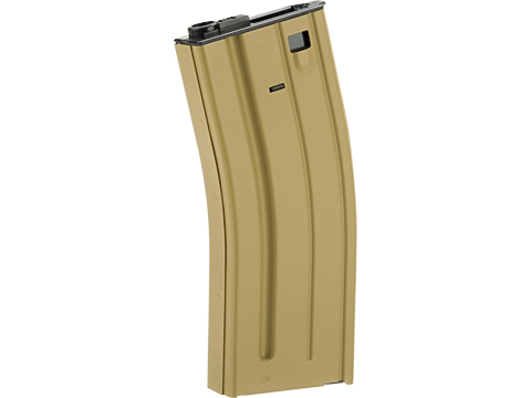 VFC Steel Stamped GI Magazine for SCAR M4 M16 Series Airsoft AEG Rifles (Type: 300rd Hi-Cap / Tan)