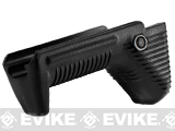 APS Dynamic Hand Stop Polymer Angled Airsoft Foregrip - Black
