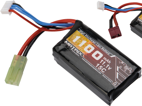 Matrix High Performance 11.1V PEQ Type Airsoft LiPo Battery (Configuration: 1300mAh / 45C / Deans)