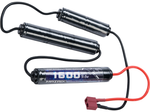 Matrix High Output Custom Type Airsoft NiMH Battery (Configuration: 9.6V / 1600mAh / Standard Deans / ICS M-3)