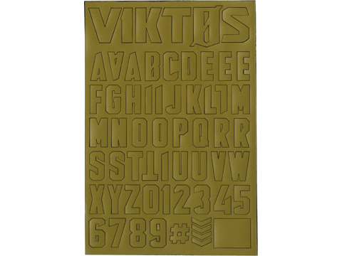 Viktos Moralphabet™ Letter Patches (Color: Spartan)