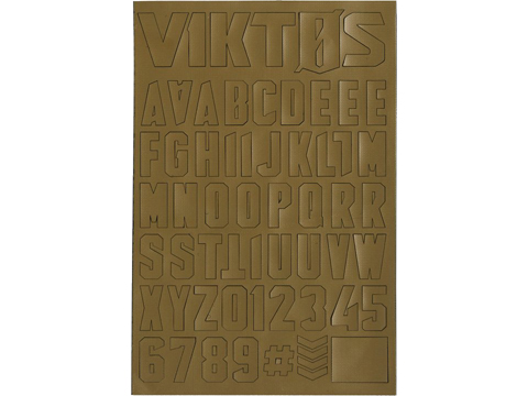 Viktos Moralphabet™ Letter Patches (Color: Coyote)