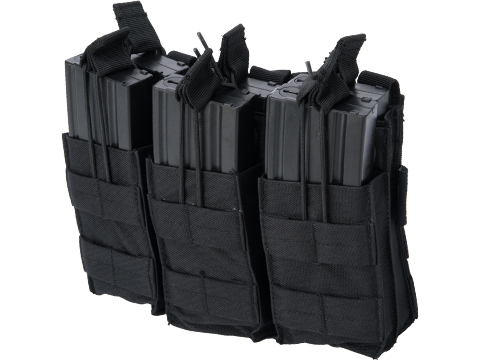 Viper Tactical Open Top Triple Duo Magazine Pouch (Color: Black)
