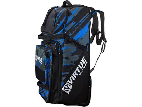 Virtue Paintball Virtue High Roller V2 Gear Bag / Luggage (Color: Graphic Cyan)