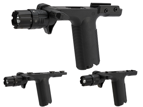 VISM By NcStar VGF Vertical Grip with Integrated Strobe Flashlight (Mount: Picatinny)