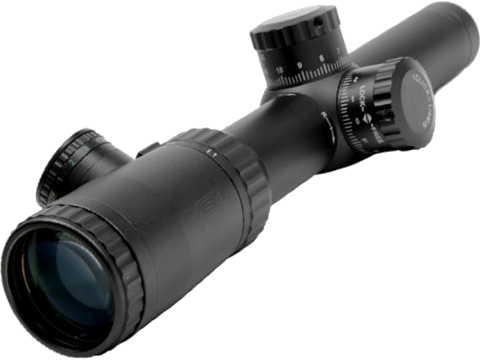 NcSTAR / VISM Evolution Series 1.1-4x24 Blue / Green Illuminated Rifle Scope (Reticle: Cross-Dot)
