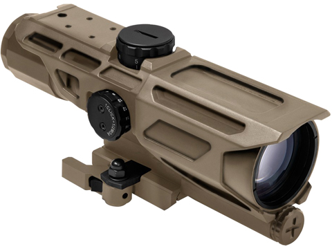 VISM by NcStar Mark III Tactical Gen3 3-9x40 Red & Blue Illuminated Variable Scope (Reticle: P4 / Tan)