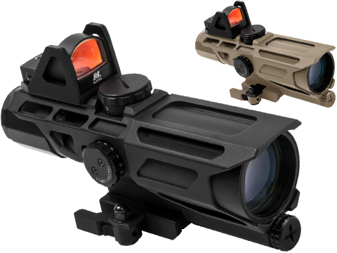 VISM by NcStar Ultimate Sighting System Gen3 3-9x40 Red & Blue Illuminated Variable Scope w/ Red Micro Dot Sight