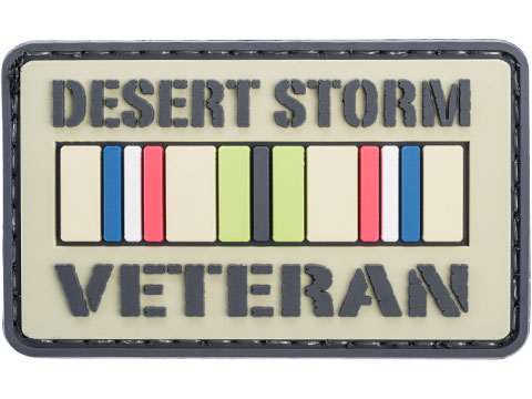 Voodoo Tactical Desert Storm Veteran PVC Hook and Loop Morale Patch