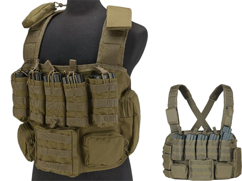Voodoo Tactical MOLLE Tactical Chest Rig (Color: Coyote)