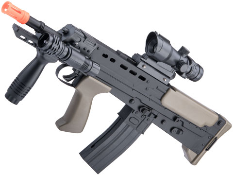 Matrix Heavy Version L85A2 Airsoft Spring Rifle w/ Red Dot Sight and Flashlight