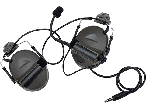 Element Z031 Military Style Noise Canceling Headset for FAST Helmets (Color: Foliage Green)
