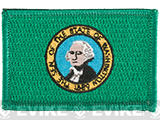 Evike.com Tactical Embroidered U.S. State Flag Patch (State: Washington The Evergreen State)