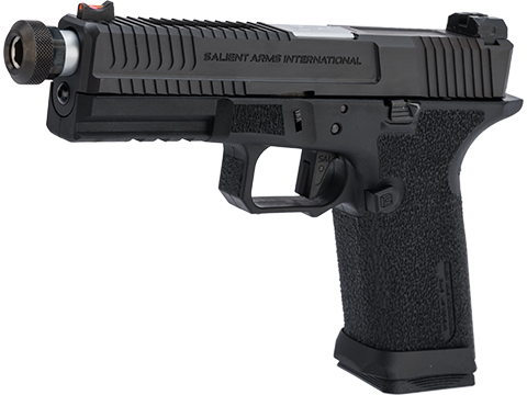 EMG Salient Arms International BLU w/ G&P Steel Slide and Silver Barrel (Model: Blackout w/ Green Gas Mag)