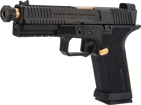 EMG Salient Arms International BLU w/ G&P Steel Slide and Gold Barrel (Model: w/ Green Gas Mag)