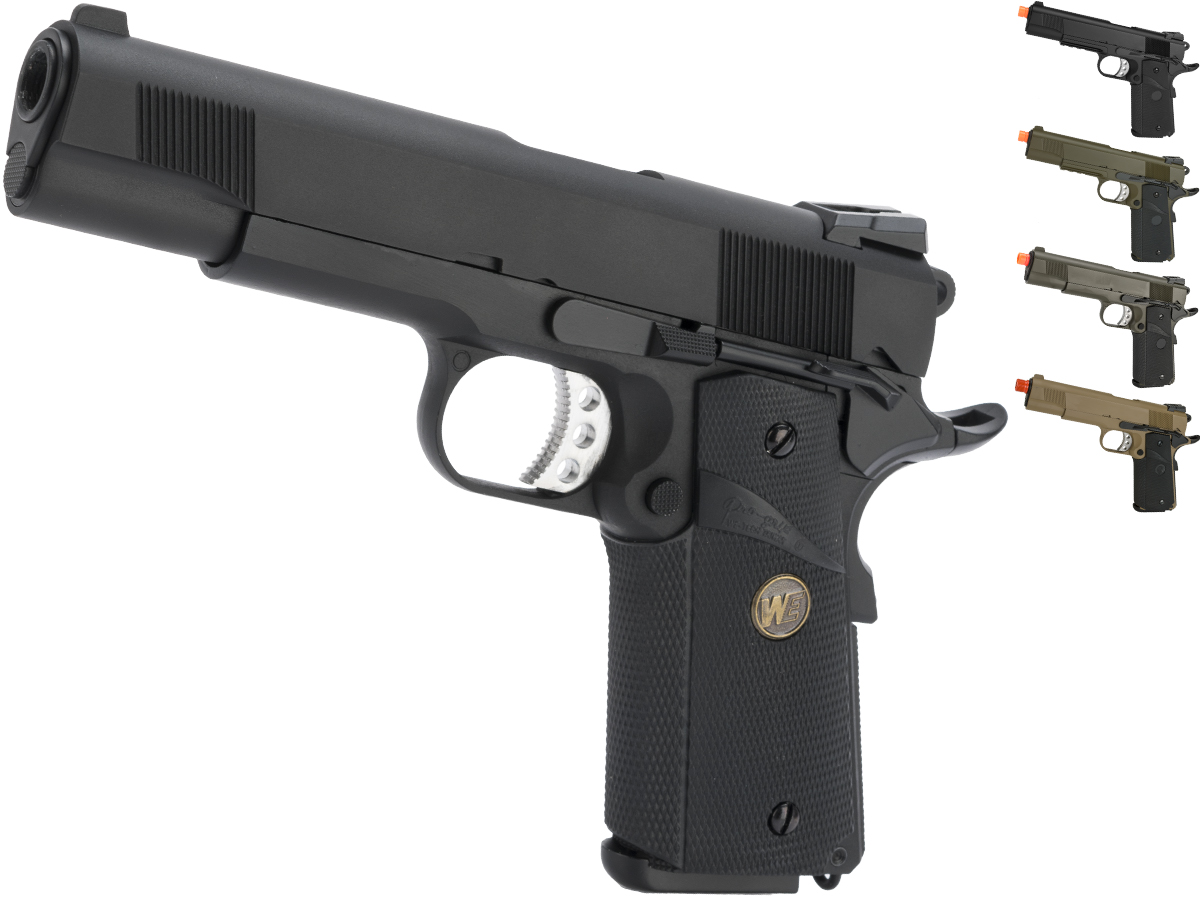 WE / CQB Master Metal 1911 MEU Gen. 2 Heavy Weight Airsoft GBB Pistol (Color: Black)