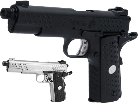 WE-Tech Custom 1911 Knighthawk Airsoft Gas Blowback Pistol (Color: Black)