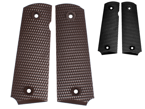 WE-Tech OEM Replacement Diamond Checkered Grip for 1911 Series Airsoft GBB Pistols
