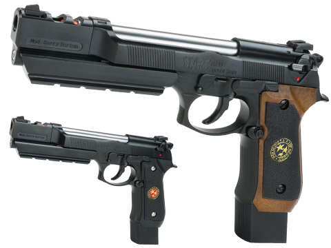 WE-Tech Barry Burton Custom Biohazard M9 Limited Edition Airsoft Gas Blowback Pistol - Semi Auto/Full-Auto