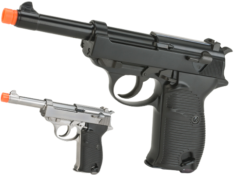 WE Full Metal Heavy Weight P38 Airsoft Gas Blow Back Pistol (Color: Black)