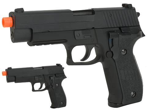 Swiss Arms Licensed 226 Airsoft Gas Blowback GBB Pistol (Version: Railed)