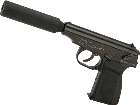 Baikal Licensed PMM Gas Blowback Pistol w/ Mock Suppressor by WE-Tech