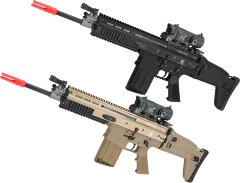 FN Herstal SCAR-H STD Licensed MK17 Gas Blowback Airsoft Rifle by WE-Tech (Color: Black)