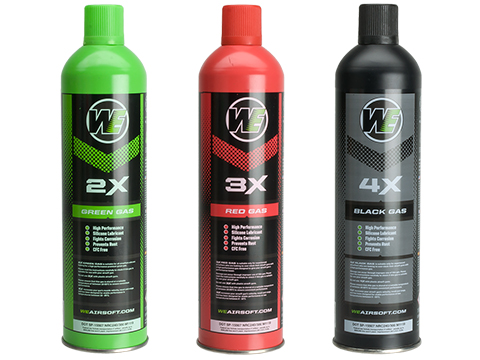 (NEW YEAR'S EPIC DEAL!!!) Airsoft Premium 2X High Performance Gas 10.5oz by WE (Qty: 1 Can / Green)