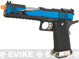 WE-Tech Competition Series Hi-CAPA Gas Blowback Pistol (Model: Alpha Long Slide / Blue / Standard Grip)
