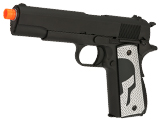 Evike.com Class I Custom Spartan WE-Tech 1911A1 Gas Blowback Airsoft Pistol - Black