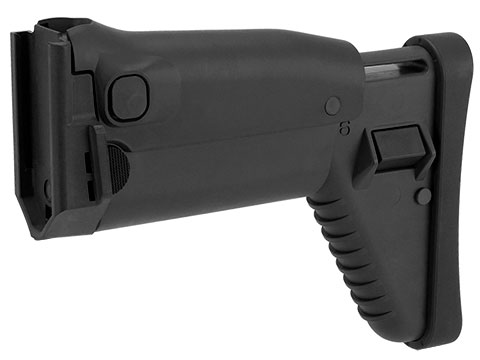 Complete WE-Tech / FN SCAR-L Gas Blowback Stock Assembly (Color: Black)