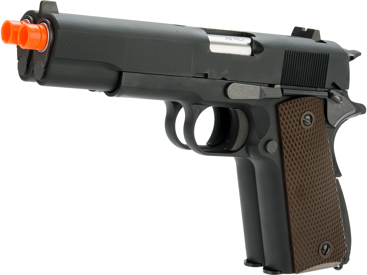WE-Tech Custom The Classic Double Barrel 1911 Gas Blowback Pistol