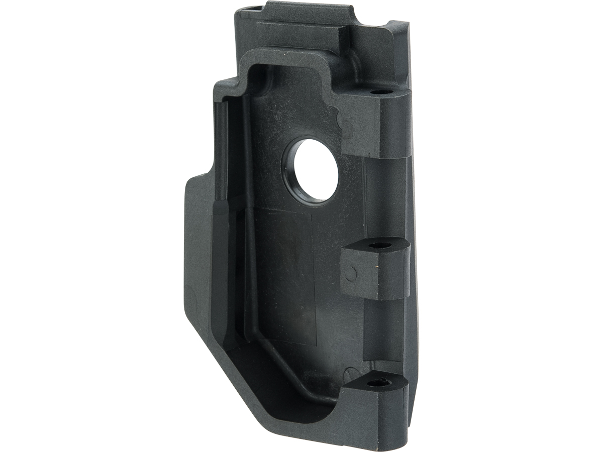 WE-Tech Reinforced Replacement Stock Hinge Connection Plate for CO2 SCAR GBB Rifles (Color: Black)