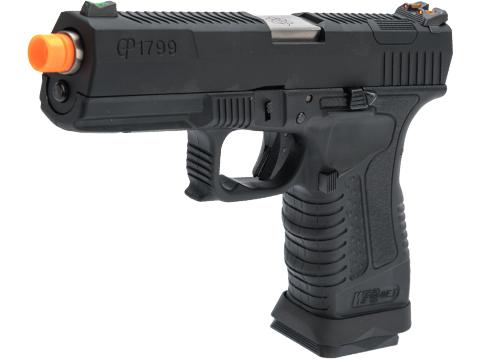 WE-Tech GP1799 T1 Gas Blowback Pistol (Color: Black / Silver Barrel)