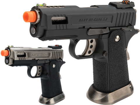 WE-Tech Hi-Capa 3.8 Full Auto Velociraptor Gas Blowback Pistol (Color: Black)