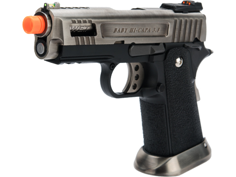 WE-Tech Hi-Capa 3.8 Velociraptor Gas Blowback Pistol (Color: Silver)