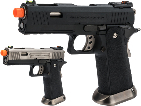 WE-Tech Hi-Capa 4.3 Allosaurus Gas Blowback Pistol (Color: Black)