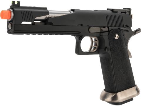 WE-Tech Competition Series Hi-CAPA Gas Blowback Pistol (Model: Alpha Long Slide / Black / Standard Grip)