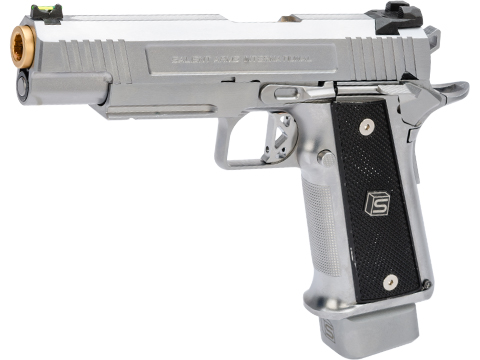EMG / Salient Arms International 2011 DS 5.1 Full Auto Select Fire GBB Pistol (Color: Silver / Green Gas)